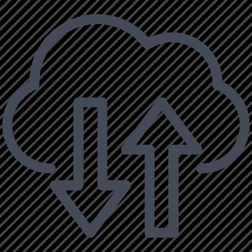business, cloud, exchange, money, online, solution, storage icon