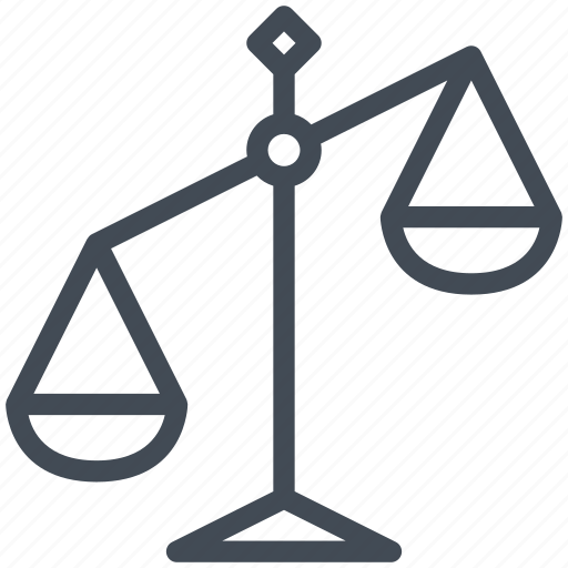 balance, business, court, justice, law, scale, weight icon