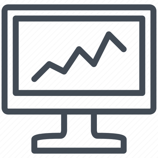 business, device, display, finance, monitor, screen, technology icon