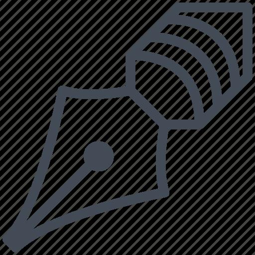 agreement, business, document, invoice, nib, pen, write icon
