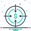 ambition, bullseye, challenge, dartboard, goal, intention, target icon