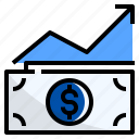 currency, growth, increase, money, profit, rate icon