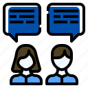 business, conversation, deal, idea, sharing, talk icon
