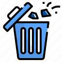 bin, clean, elimination, recycle, trash, waste icon