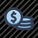 coin, money, cash, dollar, finance