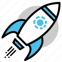 boosting, launch, mission, promotion, rocket, space, startup icon