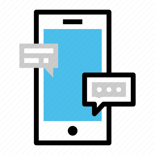 chat, chatting, conversation, messaging, mobile, phone, talk icon