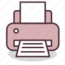 devices, equipment, office, page, printer, printing, work icon
