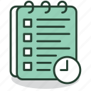 clock, deadline, document, planning, schedule, time, timetable icon