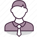 businessman, employee, manager, person, tie, worker icon