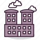 building, business, centre, city, downtown, house, office icon