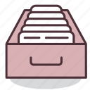 archive, archives, documentation, documents, office, papers, storage icon