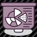 business, chart, diagram, finance, graph, pie, presentation icon