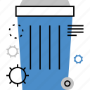 basket, container, dumpster, dustbin, garbage, recycle, trash icon