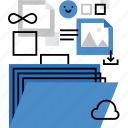 directory, documents, drive, files, folder, multimedia, portfolio icon