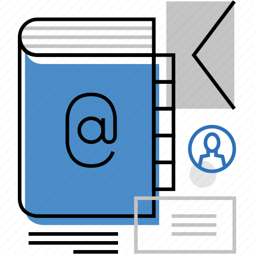 address, book, communication, contact, email, envelope, note icon
