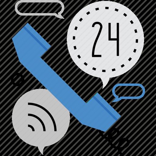 chat, conversation, handset, helpdesk, operator, phone, service icon