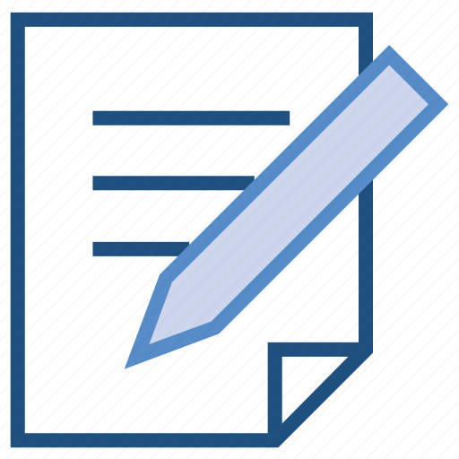 contract, document, paper, pencil, text, write icon