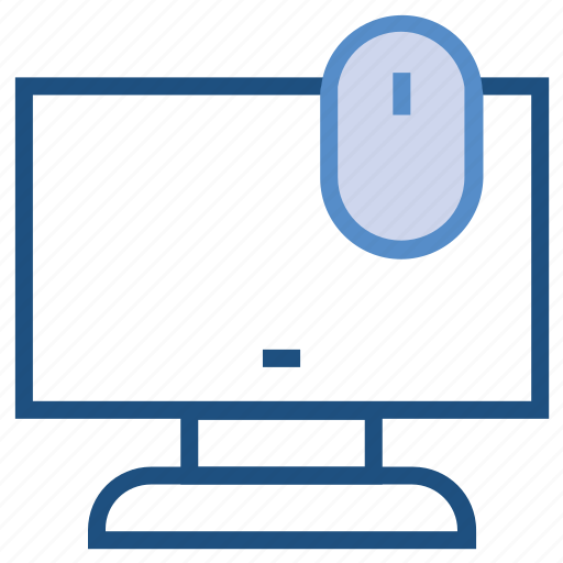 business, computer, lcd, lcd with mouse, monitor, mouse icon
