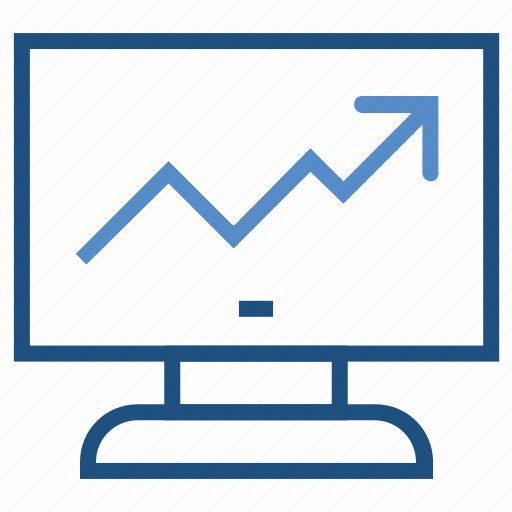 business, chart, graph, growth, lcd, monitor icon