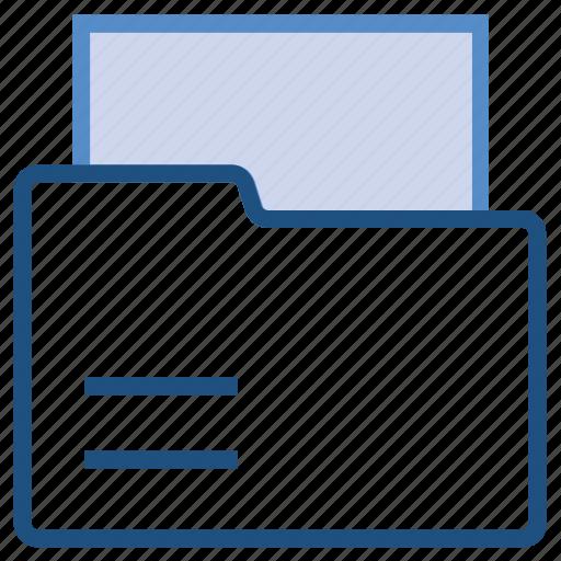 data, document, file, folder, paper, storage icon