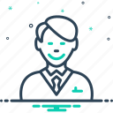 accountant, cheerful, clientele, customer, happy client, purchaser, subscriber icon
