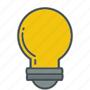 bulb, business, idea, light, office, presentation, supplies icon