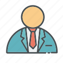 business, employee, employer, id, male, man, presentation icon