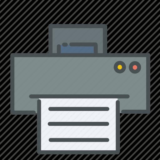 business, office, photocopier, presentation, printer, scanner, supplies icon