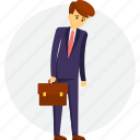 business failure, business mismanagement, disappointed businessman, failure businessman, poor management icon