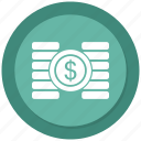 coins, dollar, finance icon