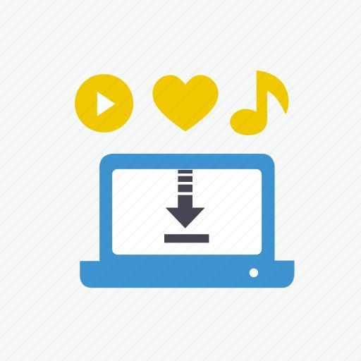 business, cloud, contents, download, favorite, internet, music icon