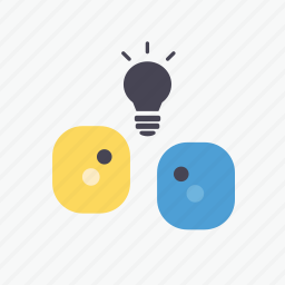 brainstorming, business, chatting, idea, marketing, meeting, planning icon