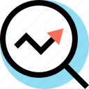 analytics, arrow, seo, web icon