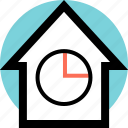 business, chart, graphic, home icon