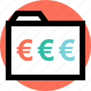 business, euro, pay icon