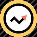 arrow, data, graphic icon