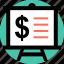 board, business, dollar