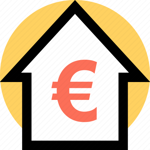 Euro, home, house icon - Download on Iconfinder