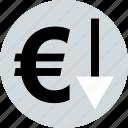 euro, low, sales