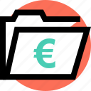 euro, save, sign icon