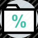 business, folder, percent icon