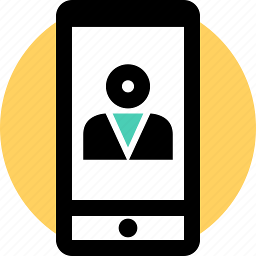 Cell, person, phone icon - Download on Iconfinder
