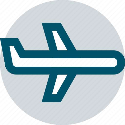 airline, airplane, travel icon