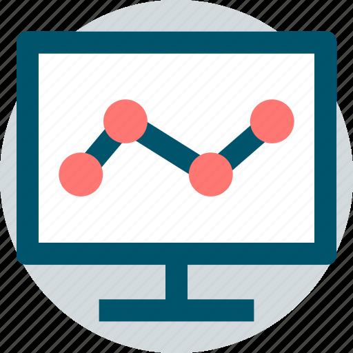 analytics, business, pc, web icon