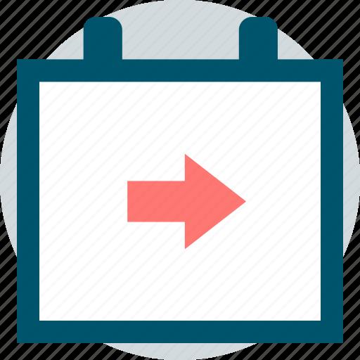 arrow, event, go, next icon
