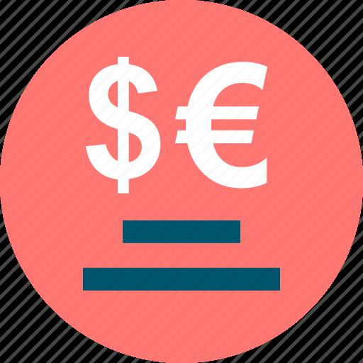 business, dollar, euro icon