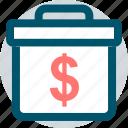dollar, professional, sign icon