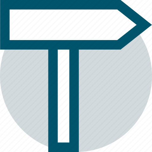 point, road, sign icon