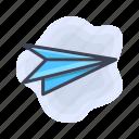 paper, plane, send